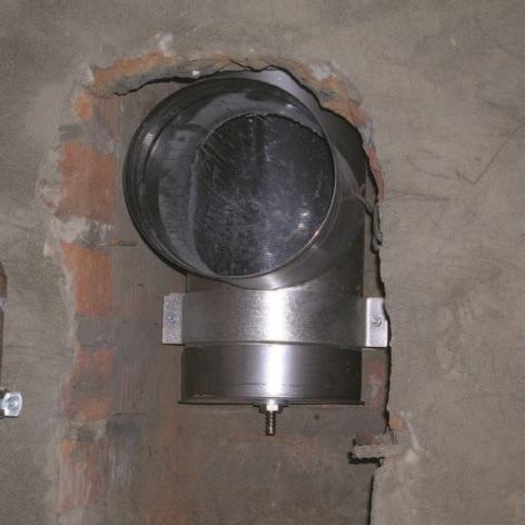 Подключение камина к дымоходу