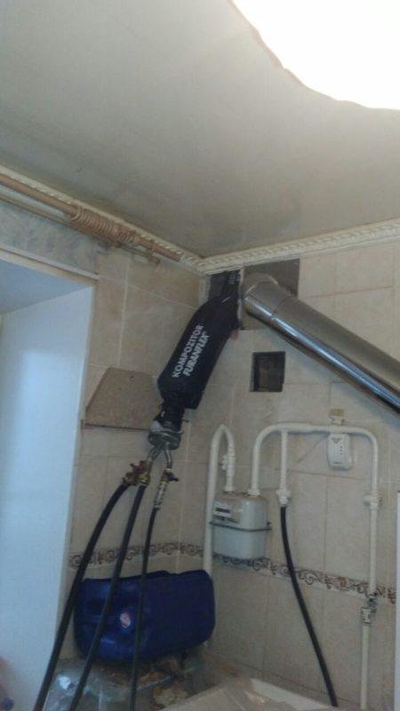 Ремонт дымохода газовой колонки в квартире