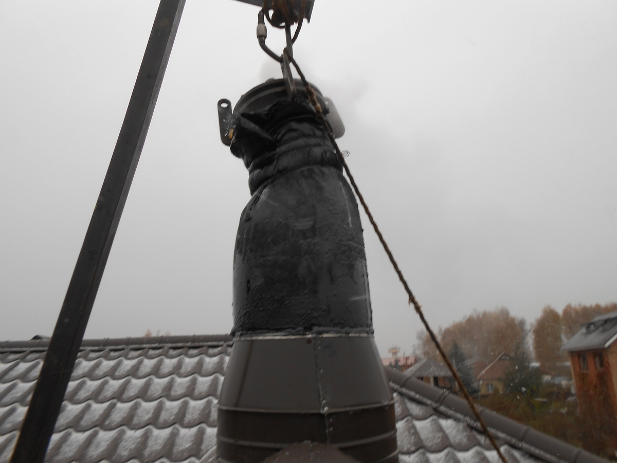 Как собрать дымоход по конденсату?