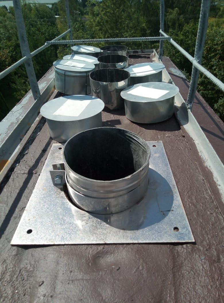 Монтаж вентиляционного канала для газового котла